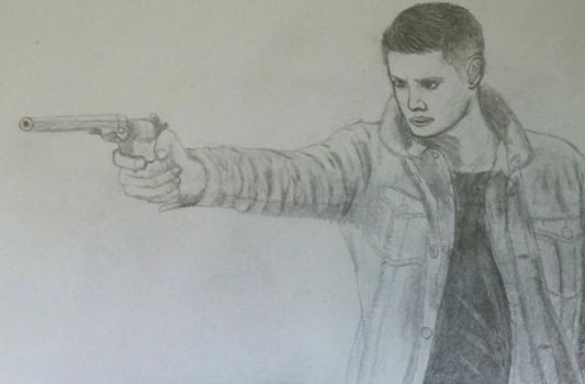 Dean Winchester and the Colt by goldfinch63