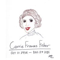 R.I.P. Carrie Fisher by JMK-Prime