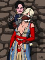 Witcher 3 Adventures - Syanna vs Keira by Kaywest