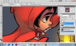 The little red riding hood by nicolasammarco
