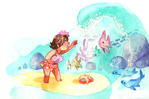 Little Moana by rumpelstiltskinned