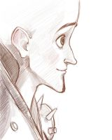 Megamind sketch by LordSiverius