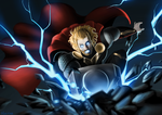 Thor Smashes Into The Ground! by HaltabSD