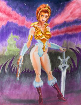 Teela at Snake Mountain by banchee1184