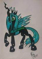 Queen Chrysalis colored by Kalyandra