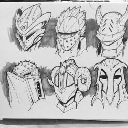 Helmet Designs by SketchMonster1