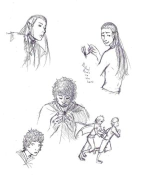 LotR sketches by colorsoftuesday
