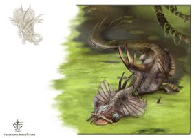 Swamp dragon by Vincent-Covielloart