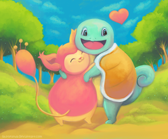 Squirtle and Skitty