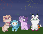 Spring Carnival: Late Night Fireworks by owlity