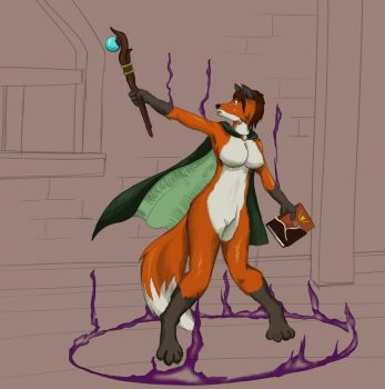 Patreon Request 004 - Vixen Magic by MaLAgua