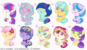 My Little Pony - Point Adoptables by MonkFishyAdopts