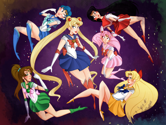 Sailor Scouts by MorwenHelyanwe