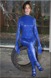 Polina in a bondagesuit by catsuitmodel