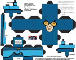 DC SH 1: Blue Beetle Cubee by TheFlyingDachshund