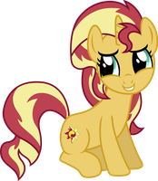 Sunset Shimmer (shy vector) by davidsfire