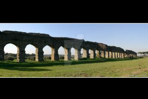Claudian Aqueduct Panorama by Keith-Killer