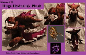 Huge Hydralisk Plush - Commission - Starcraft II by Forge-Your-Fantasy