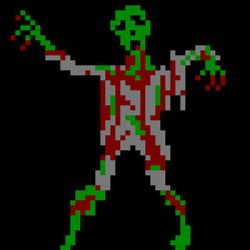 Pixel Art Study of Zombie within Four Colors by mewiepix