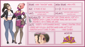 Commission - Mew Lotus Character Sheet by GetSquiddy