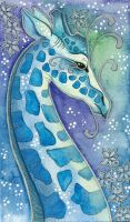 Blue Series - 06 Giraffe by Ravenari