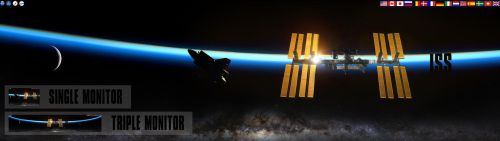 NASA ISS - International Space Station Wallpaper by foxgguy2001
