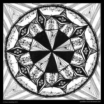 Monday Medley Mandala by Quaddles-Roost