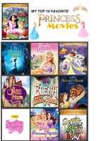 My Top 10 Favorite Princess Movies by unicornsmile