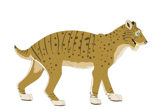 Sabertooth character for W-CanineQueen-M by TheAwesomeTomato