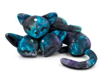 Pile of Sleeping Galaxy Cats by BeeZee-Art