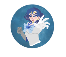 Sailor Mercury commission by emeraldartistry