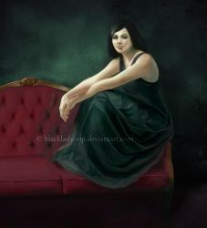 The Red Couch by blacklady-vip