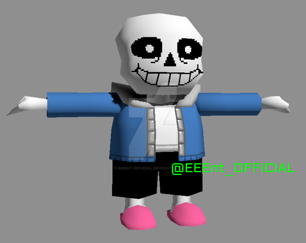 PlayStation 1 Model - Sans (WIP 002) by EEEnt-OFFICIAL
