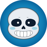 Undertale - Sans' button by silsado