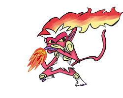 Shiny Infernape Fire type collab by The1jopro