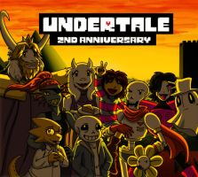 Undertale: 2nd Anniversary! by Skellyd00d