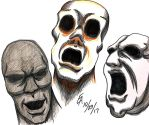 Three Ghastly Faces by mayorlight