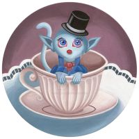 Elegant creature in a teacup by HellbeeretH