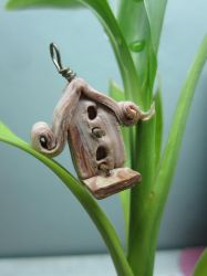 Bird house Pendant Wednesday by queencymae