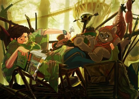 Ewoks Eat People by Nagymarci