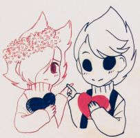Introvert x Extrovert (tomtord opposite day au) by AmiArrowTheCat