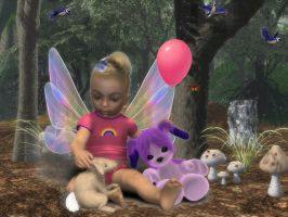 Forest Baby Angel by BrokenWings3D