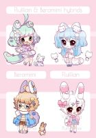 [OPEN] Fluffian And Beromimi Collab Adopts by Valyriana
