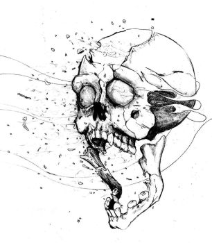 Exploding Skull idea WIP by JustWithIt