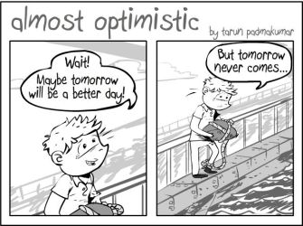Almost Optimistic Strip by tarunbanned