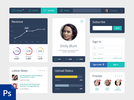 Free-Flat-UI-Kit by ifeell