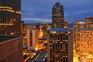 Seattle during the blue hour by arnaudperret