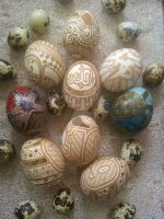 Hand Carved And Painted Chicken Egg by greborast