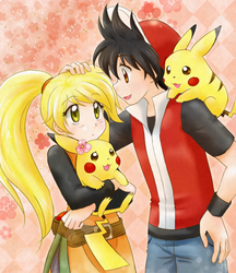Specialshipping and their Pikachus by chikorita85