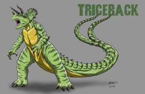 Kaiju Commissions - Tricerack by Bracey100